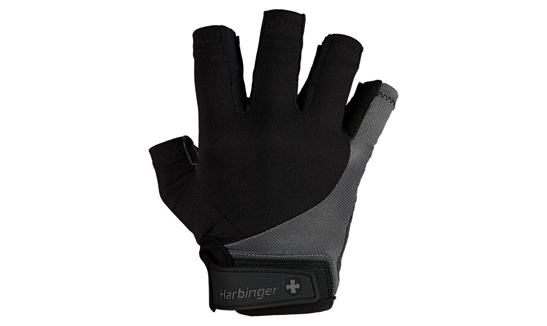 Black and grey Bio Flex Elite Glove, front facing on a white background.