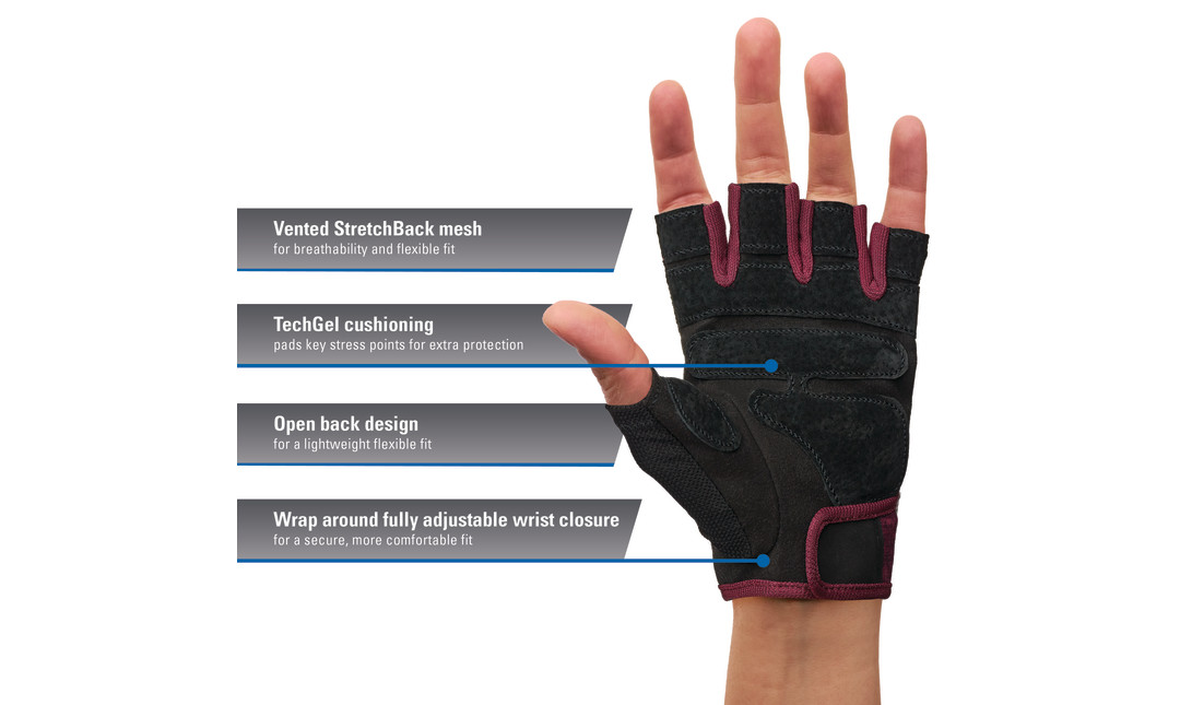 Merlot Harbinger Women's Flexfit glove with callouts